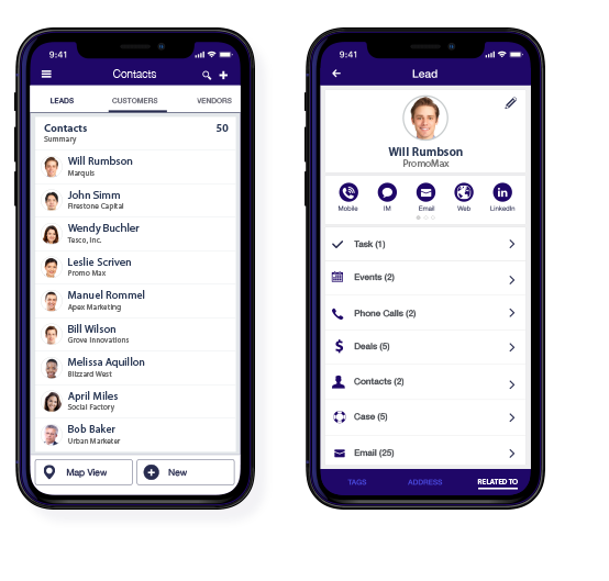 CRM Mobile Contact List